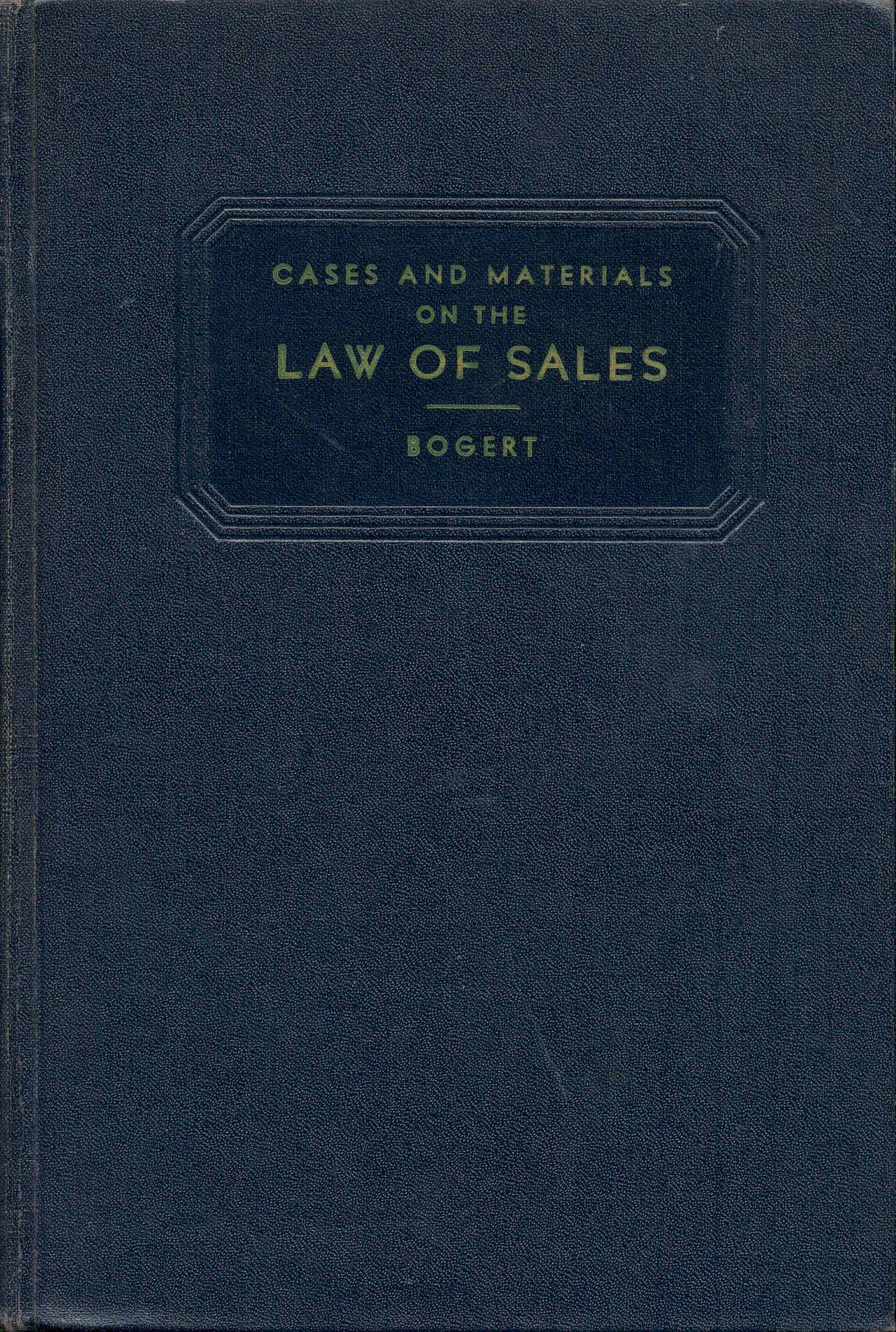 Image for Cases on the Law of Sales
