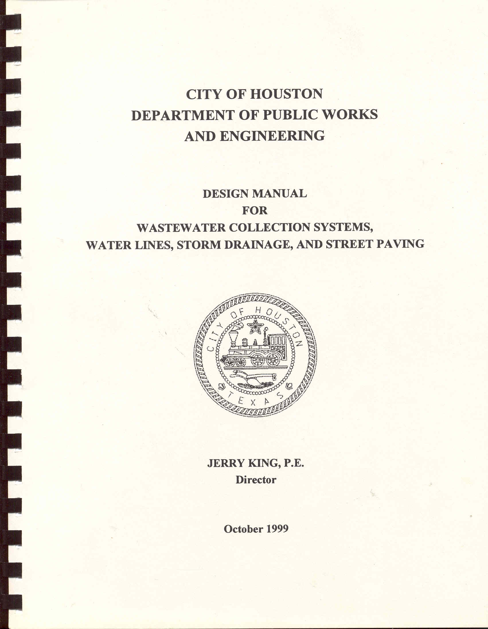 Image for Design Manual for Wastewater Collection Systems, Water Lines, Storm Drainage, and Street Paving