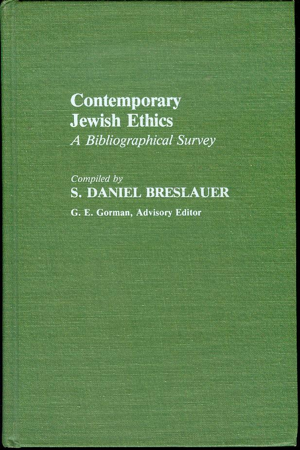 Image for Contemporary Jewish Ethics: A Bibliographical Survey