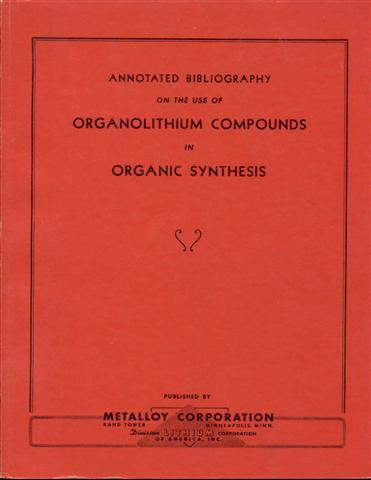 Image for Annotated Bibliography on the Use of Organolithium Compounds in Organic Synthesis