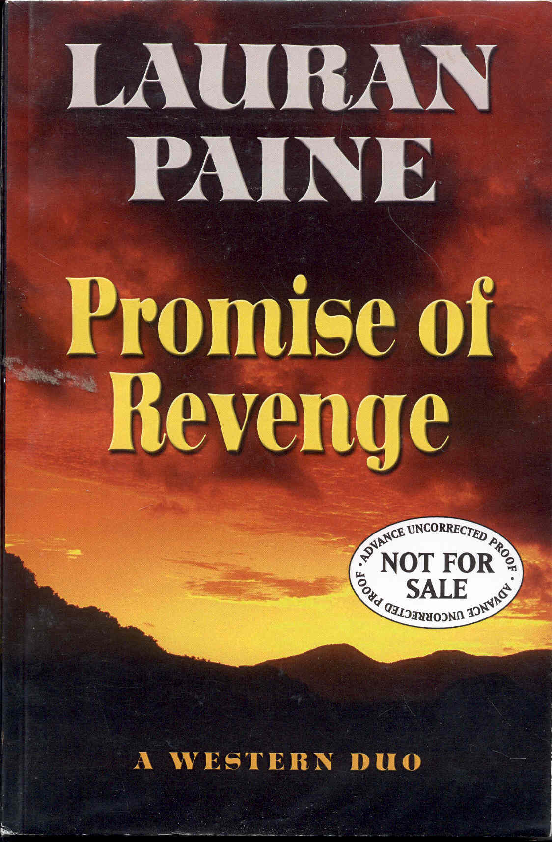 Image for Promise of Revenge: A Western Duo
