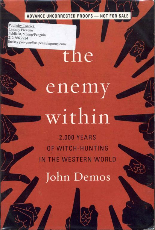 Image for The Enemy Within: 2,000 Years of Witch-hunting in the Western World