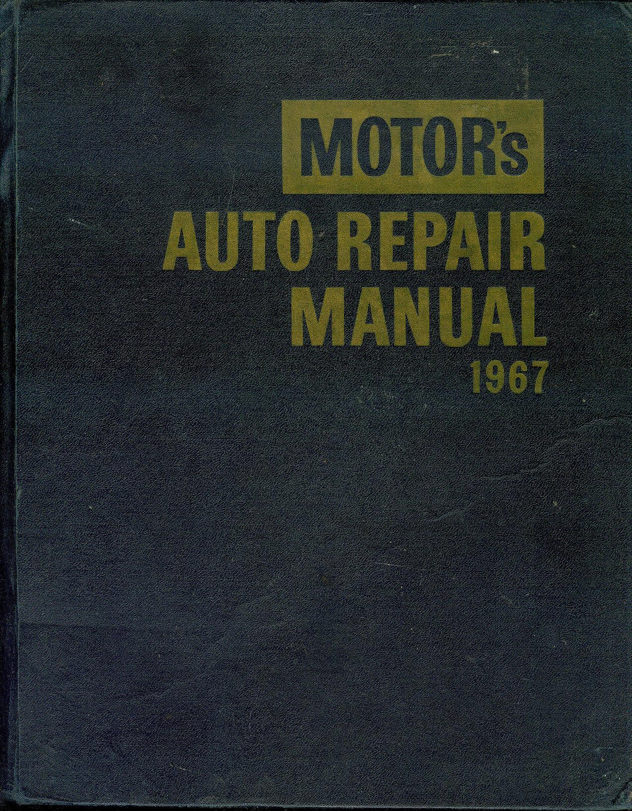 Image for Motor's Auto Repair Manual 1967