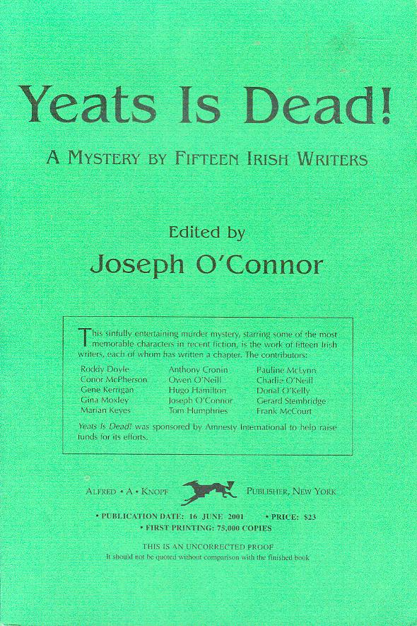 Image for Yeats Is Dead!: A Mystery by Fifteen Irish Writers