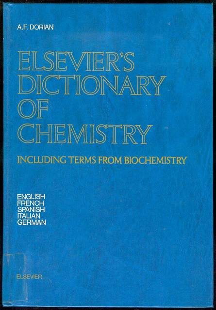 Image for Elsevier's Dictionary of Chemistry