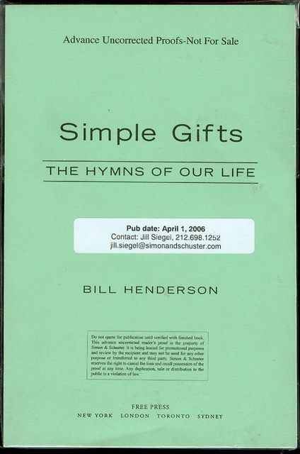 Image for Simple Gifts: The Hymns of Our Life