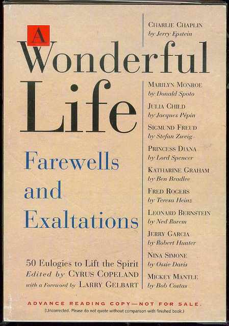 Image for A Wonderful LIfe: 50 Eulogies to Life the Spirit