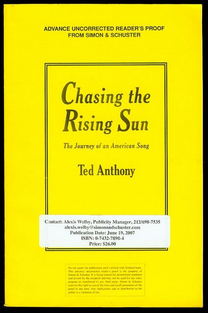 Image for Chasing the Rising Sun: The Journey of an American Song