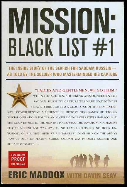 Image for Mission: Black List #1 (The Inside Story of the Search for Saddam Hussein - As Told by the Soldier Who Masterminded His Capture)