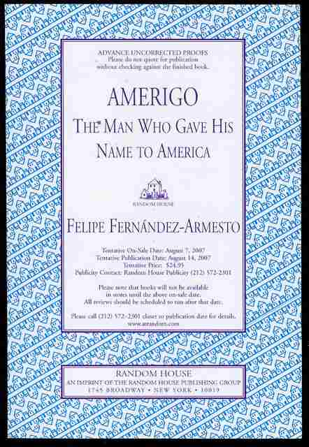 Image for Amerigo: The Man Who Gave His Name to America