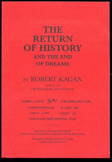 Image for The Return of History and the End of Dreams