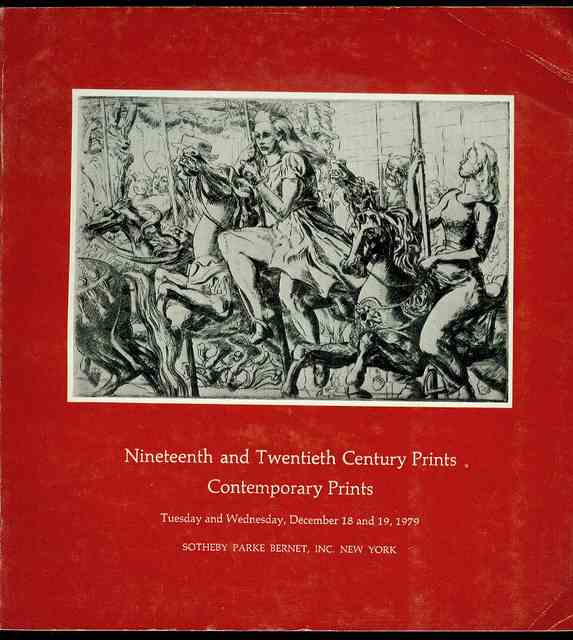 Image for Nineteenth and Twentieth Century Prints Contemporary Prints (December 18 and 19, 1979)