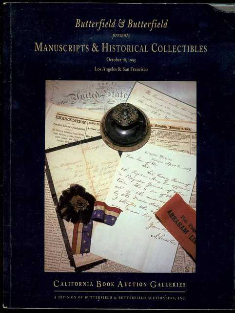 Image for Manuscripts & Historical Collectibles (Wednesday, October 18, 1995)