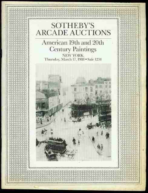 Image for Sotheby's Arcade Auctions: American 19th and 20th Century Paintings, Drawings and Sculpture (Sale 1234, March 17, 1988)