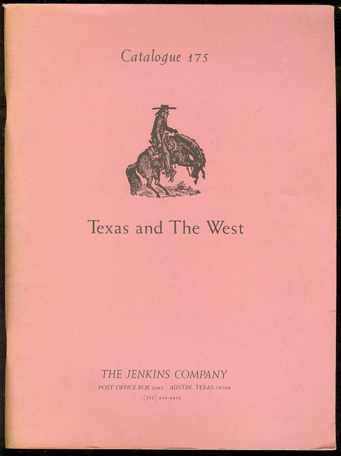 Image for Texas and The West (Catalogue 175)