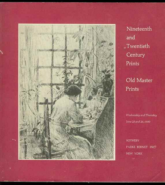 Image for Nineteenth and Twentieth Century Prints: Old Master Prints (June 25 and 26, 1980)