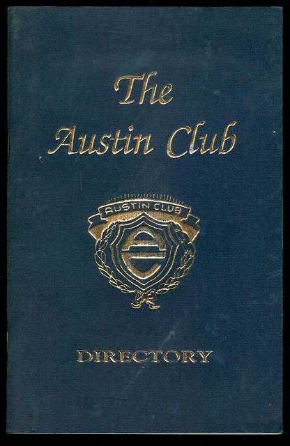 Image for The Austin Club Directory