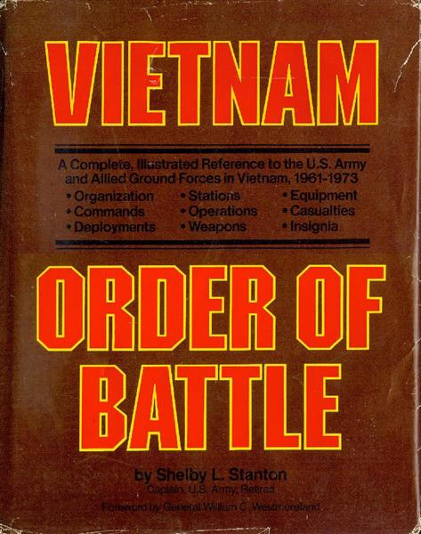 Image for Vietnam Order of Battle: A Complete Illustrated Reference to U.S. Army Combat and Support Forces in Vietnam 1961-1973