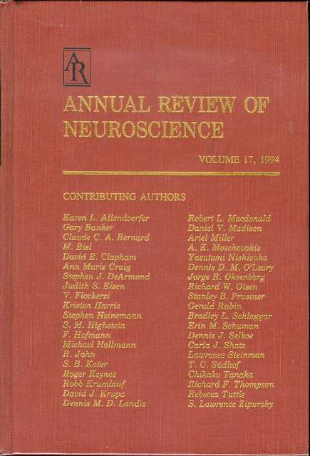 Image for Annual Review of Neuroscience (Volume 17, 1994)