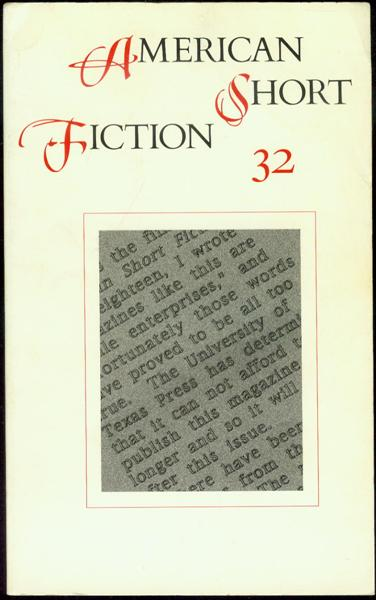 Image for American Short Fiction (Vol. 8, No. 32, Winter 1998)
