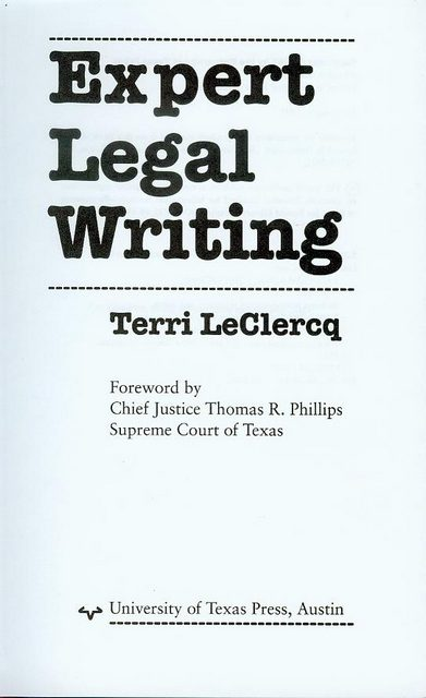 Image for Expert Legal Writing