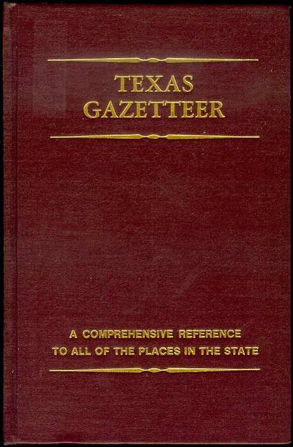 Image for Texas Gazetteer