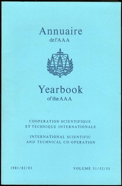 Image for Annuaire AAA / AAA Yearbook 1981/82/83