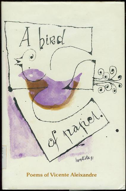 Image for A Bird of Paper: Poems of Vicente Aleixandre