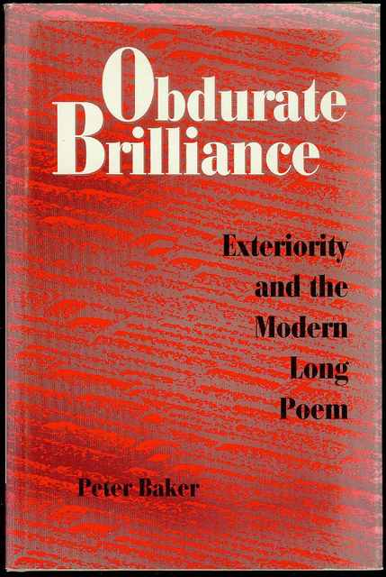 Image for Obdurate Brilliance: Exteriority and the Modern Long Poem