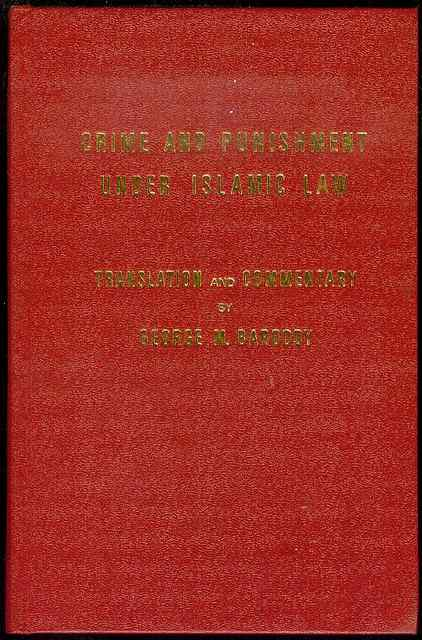 Image for Crime and Punishment Under Islamic Law