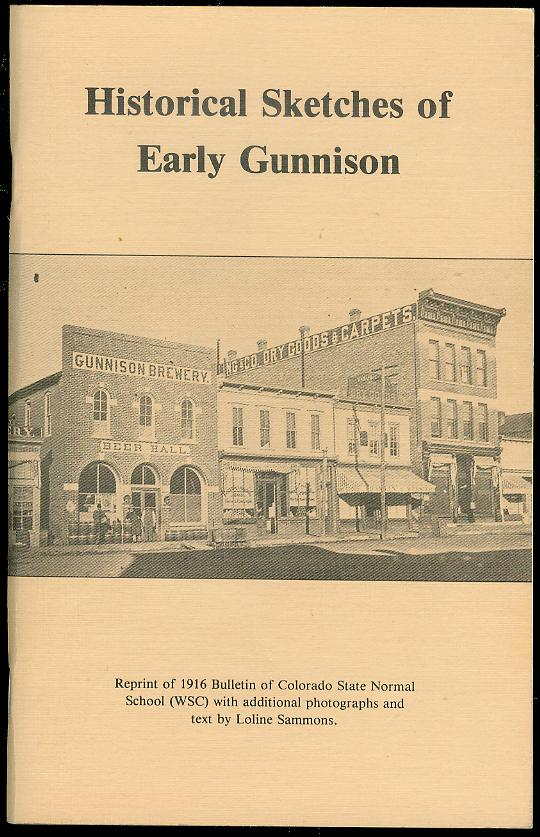 Image for Historical Sketches of Early Gunnison