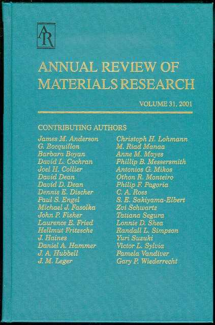 Image for Annual Review of Materials Science (Volume 31, 2001)