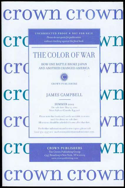 Image for The Color of War: How One Battle Broke Japan and Another Changed America