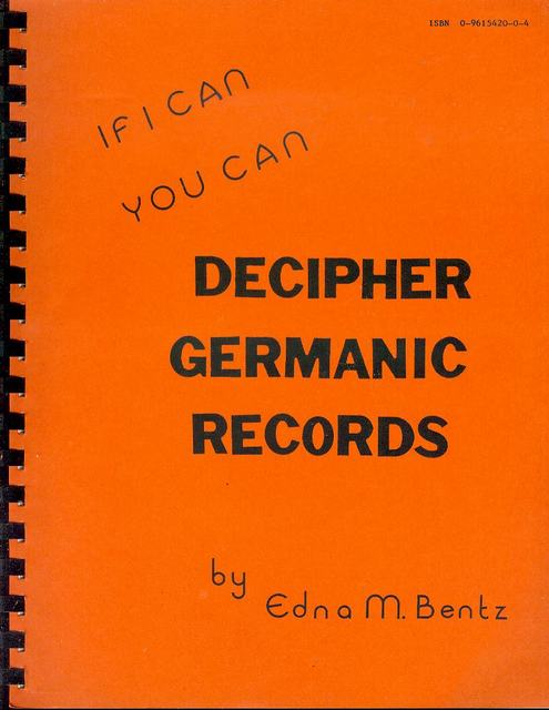 Image for If I Can You Can Decipher Germanic Records