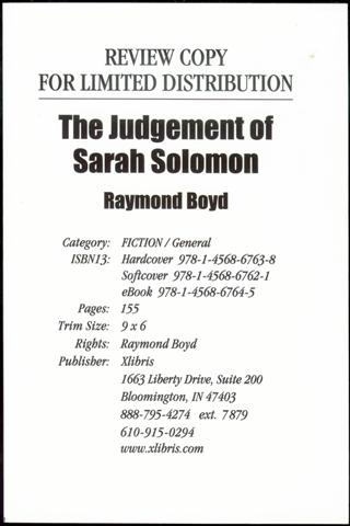 Image for The Judgement of Sarah Solomon