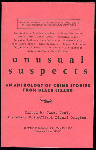 Image for Unusual Suspects: A New Anthology of Crime Stories from Black Lizard