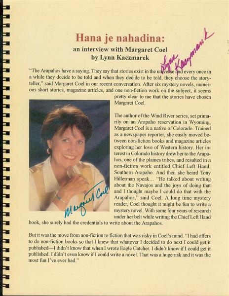 Image for Hana je nahadina: An Interview with Margaret Coel