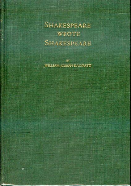 Image for Shakespeare Wrote Shakespeare