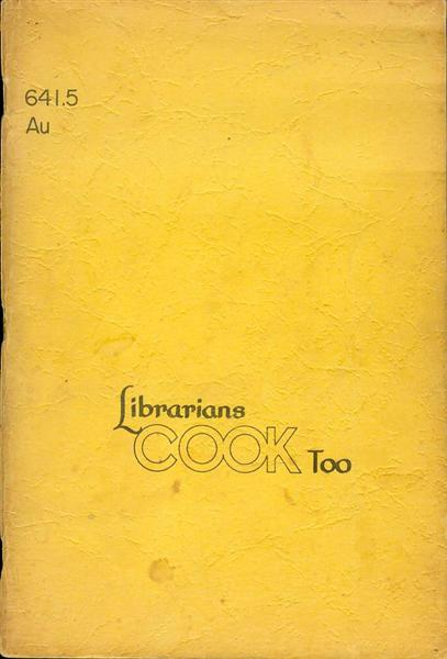 Image for Librarians Cook Too