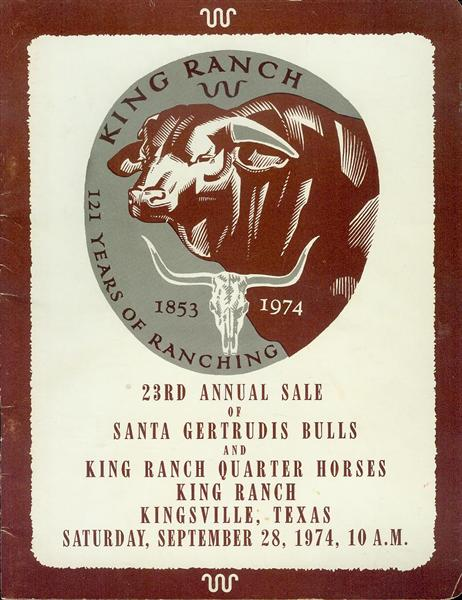 Image for King Ranch 121 Years of Ranching (23rd Annual Sale of Santa Gertrudis Bulls and King Ranch Quarter Horses)