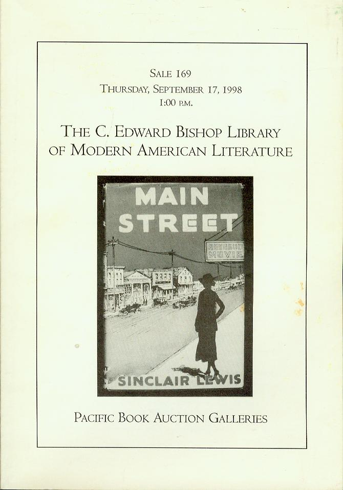 Image for The C. Edward Bishop Library of Modern American Literature (Sale 169, September 17, 1998)