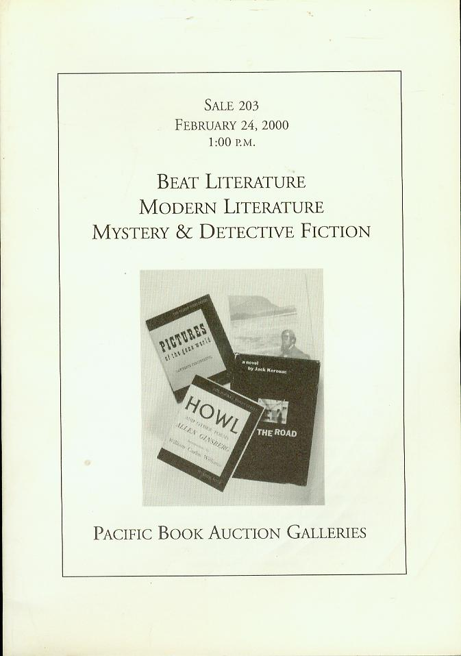 Image for Beat Literature, Modern Literature, Mystery & Detective Fiction (Sale 203, February 24, 2000)