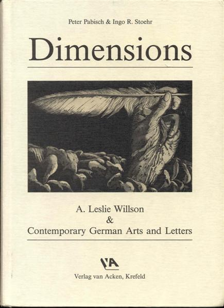 Image for Dimensions: A. Leslie Willson & Contemporary German Arts and Letters
