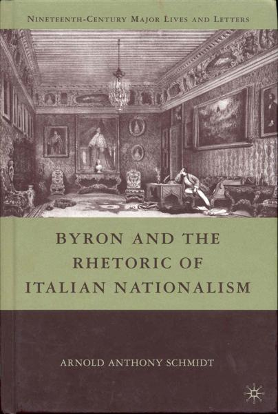 Image for Byron and the Rhetoric of Italian Nationalism
