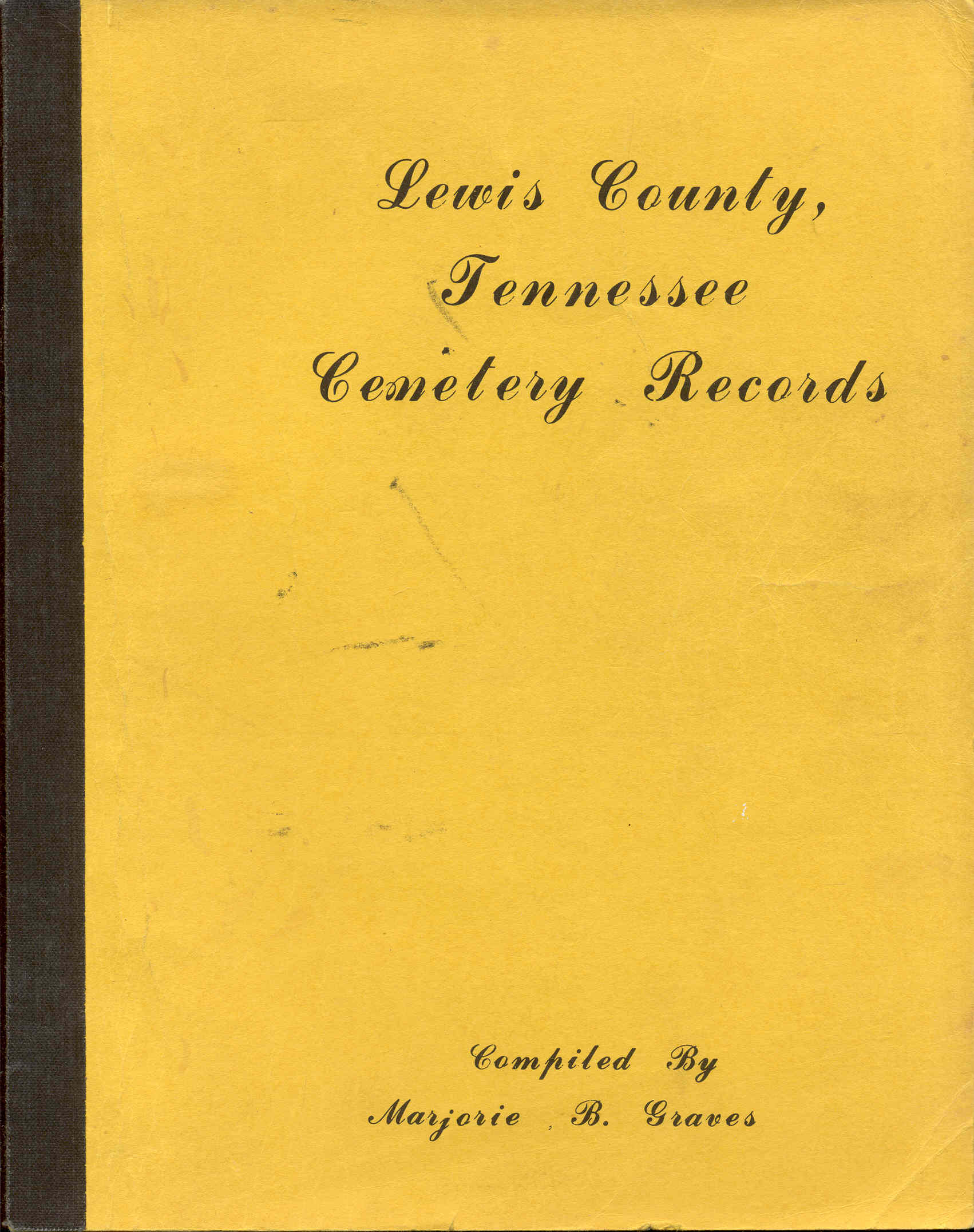 Image for Lewis County, Tennessee Cemetery Records