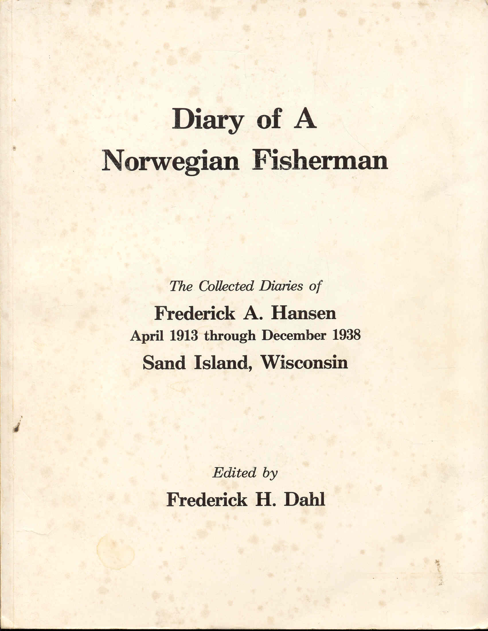 Image for Diary of A Norwegian Fisherman