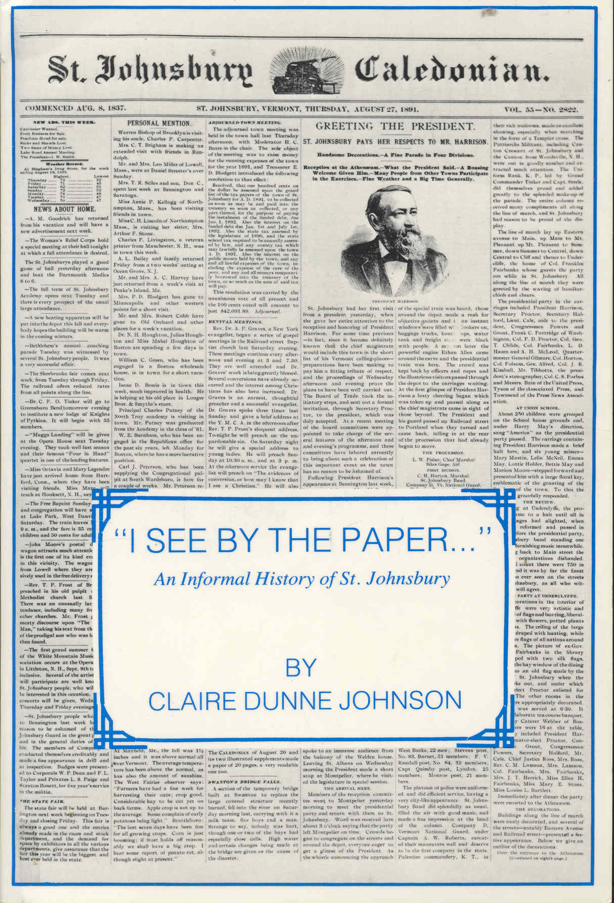 Image for I See By The Paper... An Informal History of St. Johnsbury