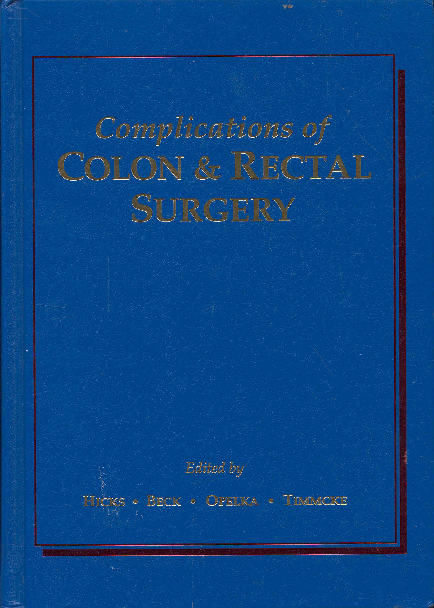 Image for Complications of Colon & Rectal Surgery