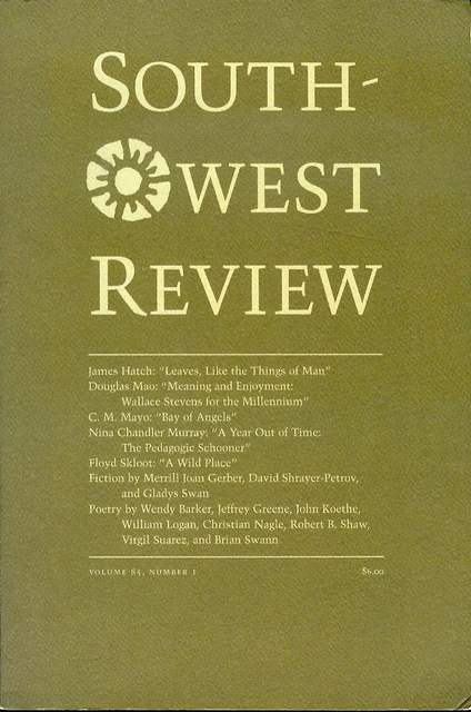Image for Southwest Review (Volume 85, Number 1, 2000)