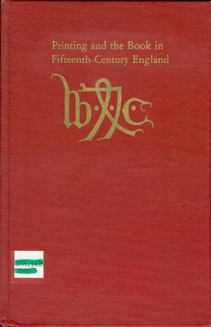 Image for Printing and the Book in Fifteenth-Century England